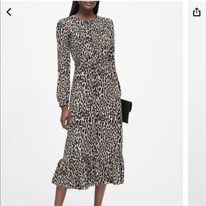 Banana Republic leopard print shirt dress NWT!!!